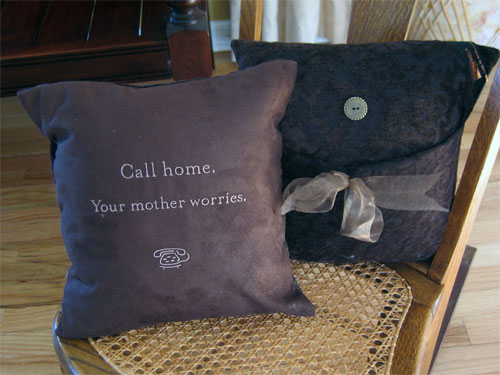 Graduation Pillow with CALL HOME Message