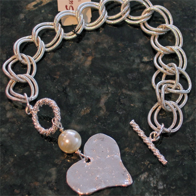 Heart with Pearl Bracelet