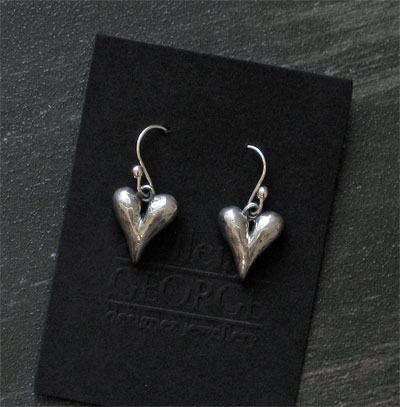Sterling Heart Earrings