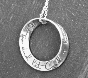 Sterling Silver Mobius Inspirational Jewelry