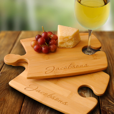 Personalized Bamboo Serving Tray / Cutting Board