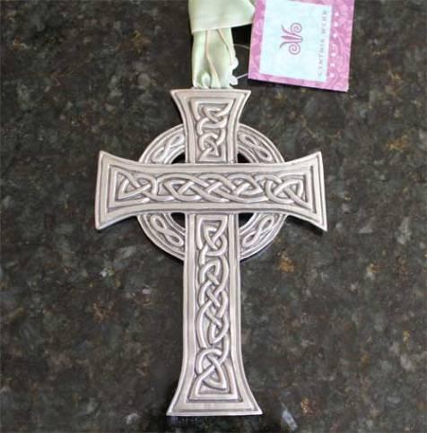 Celtic Cross Pewter Ornament