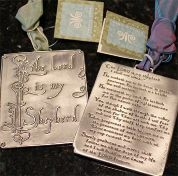 The Lord is my Shepherd... Pewter Ornament