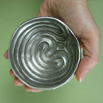 Pewter Labyrinth Bowl
