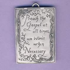 Preach the Gospel Pewter Ornament