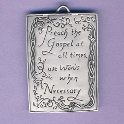 Preach the Gospel Pewter Ornament